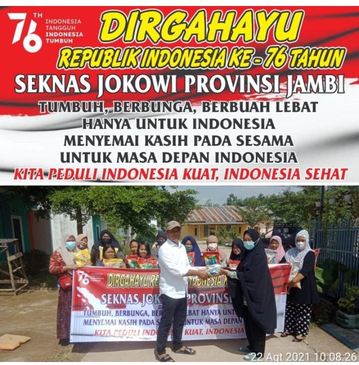 DPW SEKNAS JOKOWI Provinsi Jambi Adakan Kegiatan