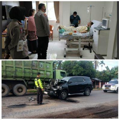 Bupati Merangin H. Mashuri Kecelakaan di Sridadi, Muara Bulian