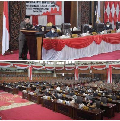 Gubernur Al Haris Nyatakan apresiasi dan dukungan Tiga Ranperda Inisiatif DPRD Provinsi Jambi