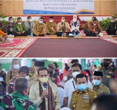 Gubernur Al Haris Yakinkan Mendikbud Ristek, Jambi Siap Laksanakan PTM