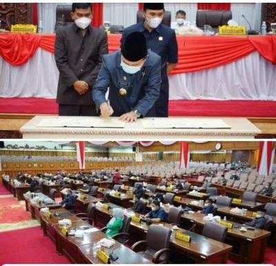 Gubernur Bersama Pimpinan DPRD Teken MOU Rancangan KUPA PPAS APBD Perubahan Tahun 2021