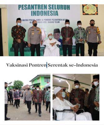 Wakil Gubernur Abdullah Sani Tinjau Vaksinasi Pesantren Serentak se-Indonesia